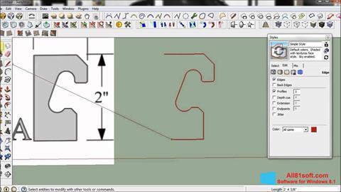 Screenshot SketchUp for Windows 8.1