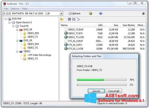 Screenshot IsoBuster for Windows 8.1