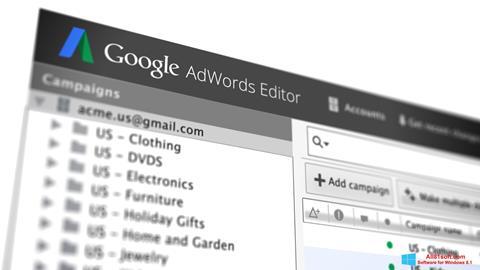Screenshot AdWords Editor for Windows 8.1