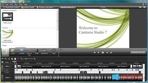 Screenshot Camtasia Studio for Windows 8.1