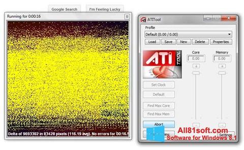 Screenshot ATITool for Windows 8.1
