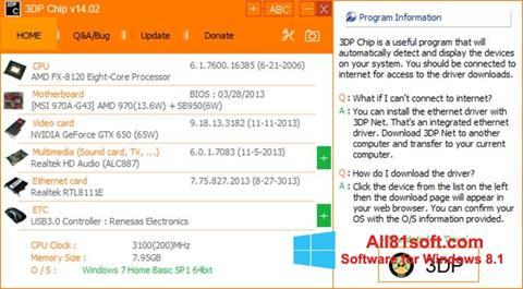 Screenshot 3DP Net for Windows 8.1