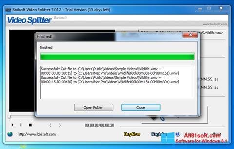 Screenshot Boilsoft Video Splitter for Windows 8.1