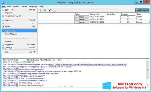 Screenshot Handy Backup for Windows 8.1
