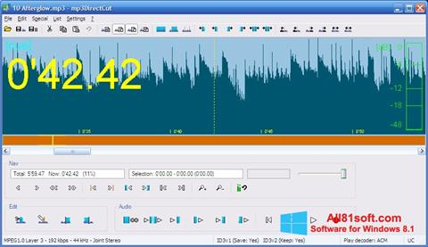 Screenshot mp3DirectCut for Windows 8.1
