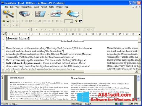 Screenshot CuneiForm for Windows 8.1
