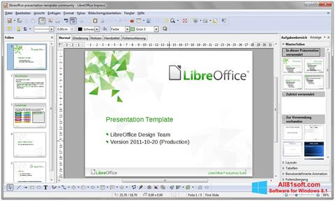 Screenshot LibreOffice for Windows 8.1
