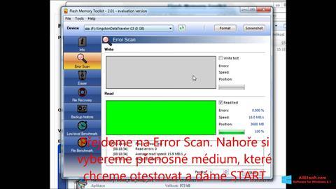 Screenshot Flash Memory Toolkit for Windows 8.1