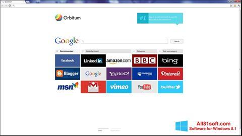 Screenshot Orbitum for Windows 8.1