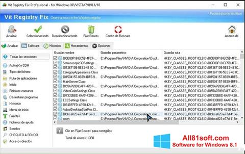 Screenshot Vit Registry Fix for Windows 8.1