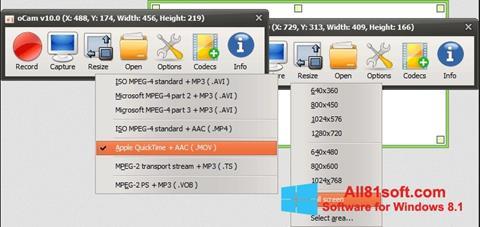 Screenshot oCam Screen Recorder for Windows 8.1