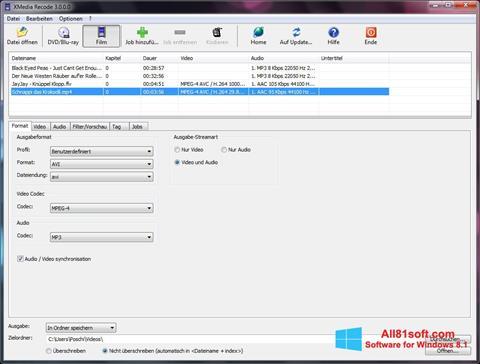 Screenshot XMedia Recode for Windows 8.1