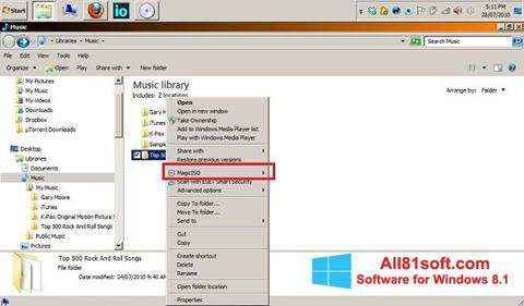 Screenshot MagicISO for Windows 8.1