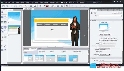 Screenshot Adobe Captivate for Windows 8.1