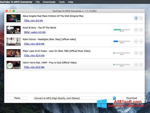 Screenshot Free YouTube to MP3 Converter for Windows 8.1