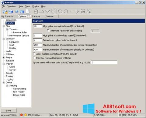 Screenshot Vuze for Windows 8.1