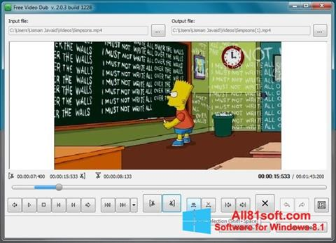Screenshot Free Video Dub for Windows 8.1