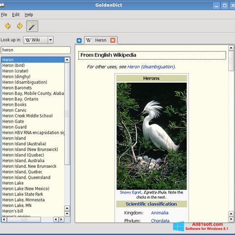 Screenshot GoldenDict for Windows 8.1