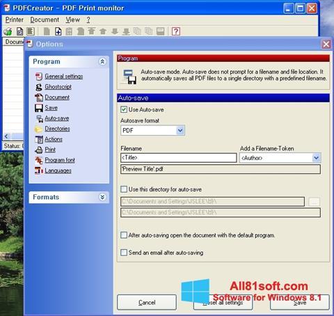 Screenshot PDFCreator for Windows 8.1