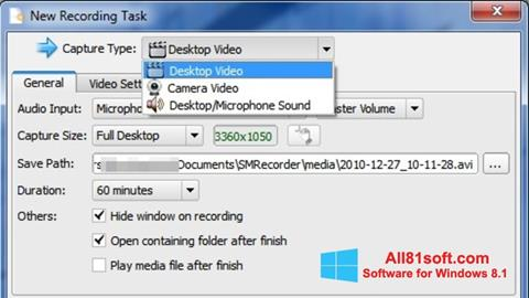 Screenshot SMRecorder for Windows 8.1