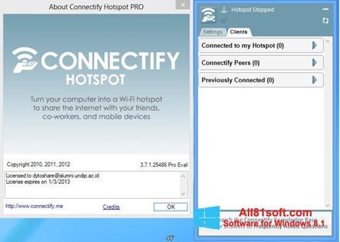 Screenshot Connectify Hotspot for Windows 8.1