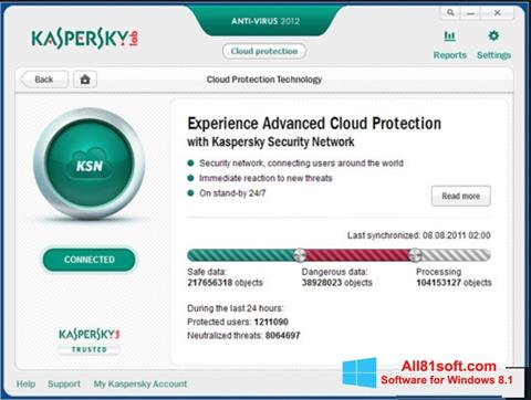 Screenshot Kaspersky for Windows 8.1