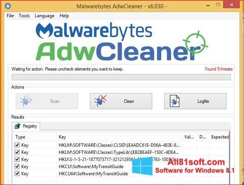 Screenshot AdwCleaner for Windows 8.1