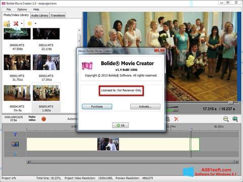 Screenshot Bolide Movie Creator for Windows 8.1
