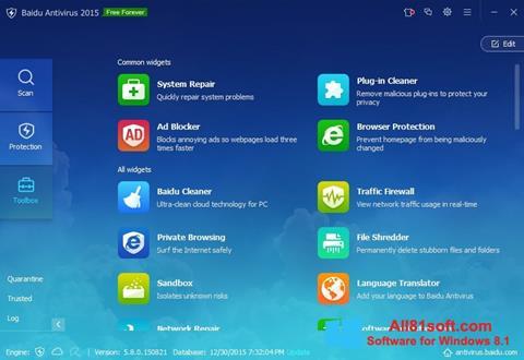 Screenshot Baidu Antivirus for Windows 8.1