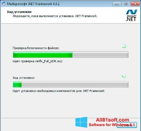 Screenshot Microsoft .NET Framework for Windows 8.1