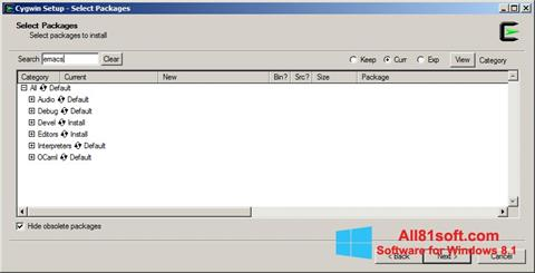 Screenshot Cygwin for Windows 8.1