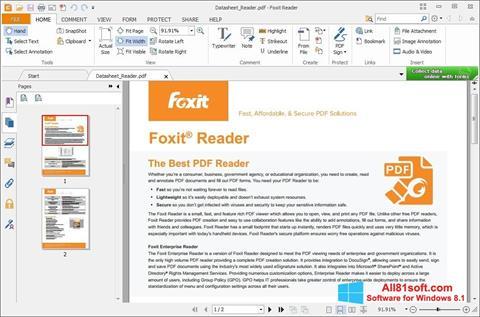 Screenshot Foxit Reader for Windows 8.1