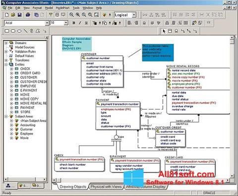 Screenshot ERWin for Windows 8.1