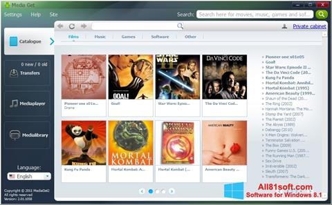 Screenshot MediaGet for Windows 8.1
