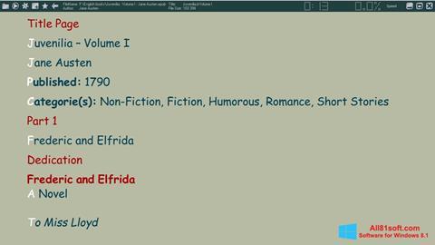 Screenshot ICE Book Reader for Windows 8.1
