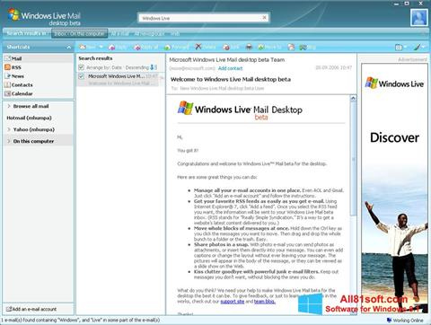 Screenshot Windows Live Mail for Windows 8.1