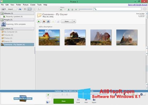 Screenshot Picasa for Windows 8.1