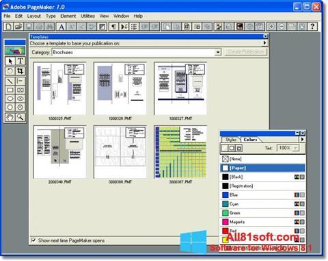 Screenshot Adobe PageMaker for Windows 8.1