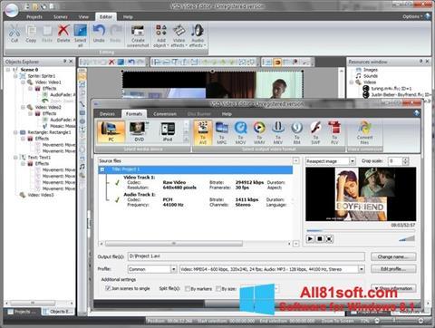 Screenshot Free Video Editor for Windows 8.1