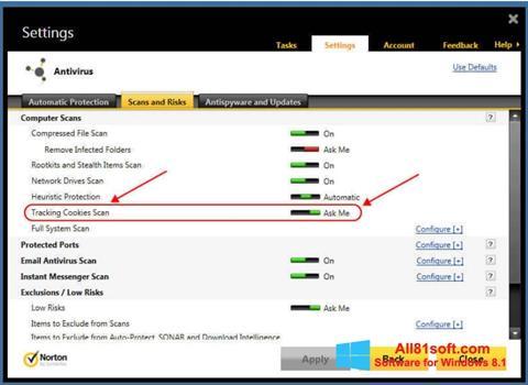 Screenshot Norton for Windows 8.1