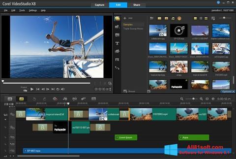Screenshot Corel VideoStudio for Windows 8.1