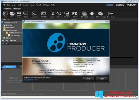 Screenshot ProShow Producer for Windows 8.1