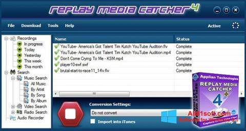 Screenshot Replay Media Catcher for Windows 8.1