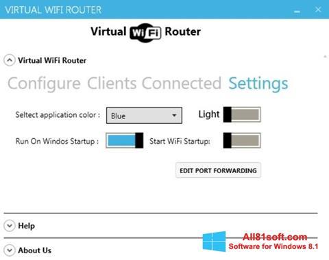 Screenshot Virtual WiFi Router for Windows 8.1