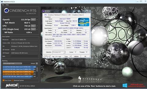 Screenshot CINEBENCH for Windows 8.1