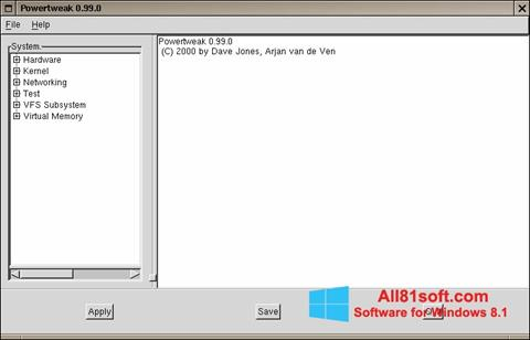 Screenshot PowerTweak for Windows 8.1