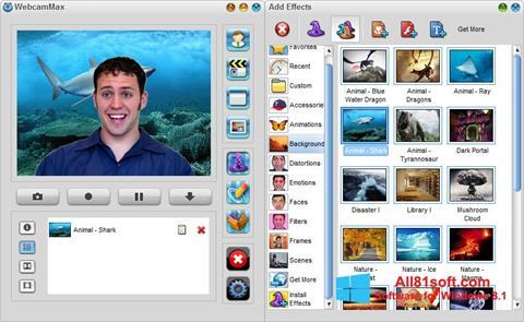 Screenshot WebcamMax for Windows 8.1