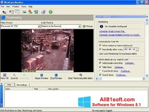Screenshot WebCam Monitor for Windows 8.1