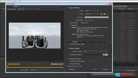 Screenshot Adobe Media Encoder for Windows 8.1