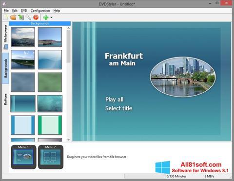 Screenshot DVDStyler for Windows 8.1